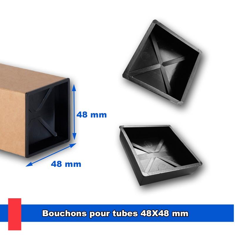 Bouchons en plastique injecté pour tubes 48x48 mm