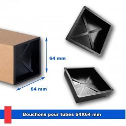 Bouchons en plastique injecté pour tubes 64x64 mm