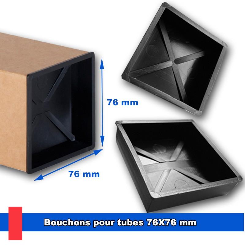 Bouchons en plastique ijecté pour tubes 76x76 mm